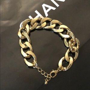 Chunky Curb Gold Chain Bracelet A1